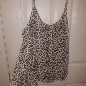 NWOT Apt 9 Cheetah Cami Blouse